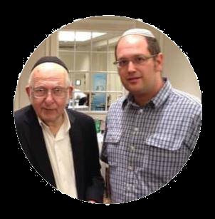 Rabbi Lichtenstein with Rabbi Lewin