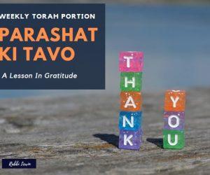 Parashat Ki Tavo Lessons In Gratitude