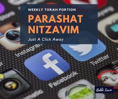 Parashat Nitzavim Just A Click Away.