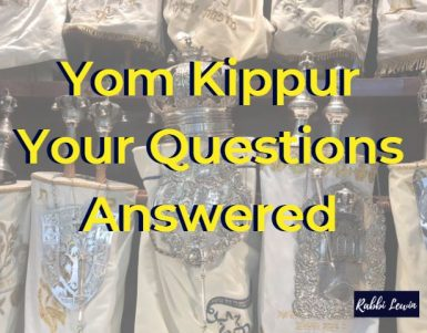 Yom Kippur 2019| Your Questions Answered