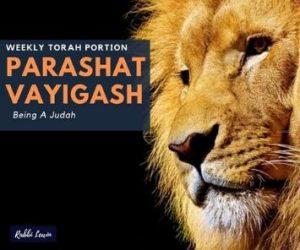Parashat Vayigash Being A Judah